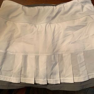 Ladies tennis skirt with built in shorts